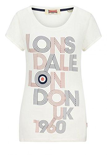 Lonsdale Damen T-Shirt Ilchester, Farbe:white;Größe:L