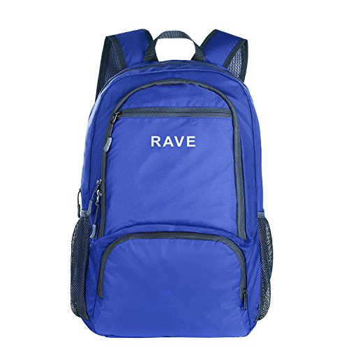 RAVE Packable Sports Backpack Camping Foldable Daypack Blue Ultralight 30L