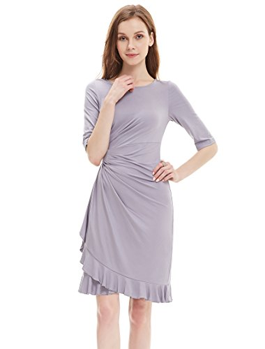 Ever pretty womens stretchy half sleeve wedding guest for Grey dress wedding guest