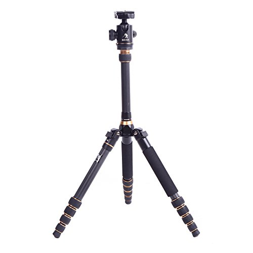 BEIKE BK-777C Foldable Professional Carbon Fiber Tripod Ball Head Monopod Tripod for Canon Nikon Petax Sony SLR Camera (Beike Carbon Fiber compare prices)