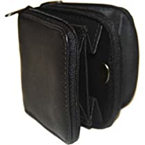 100% Genuine Leather Change Purses Black #NIN620