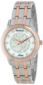 Armitron Women's 75/5159MPTR Swarovski Crystal Accented Two-Tone Bracelet Watch