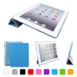 CoastCloud Smart Cover Blu Cover posteriore per Apple iPad 2 / iPad 3 / iPad 4 generazione Custodia Poliuretano...