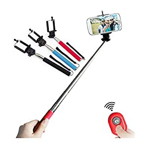 Hello-6 Global Selfie Stick with an Universal Phone Holder and Wireless Remote Shutter works via a Free Application auto bluetooth sync via App . Feature to Toggle Between Front & Back Camera with a Click of a Button on the Remote (color may vary ) for SAMSUNG GALAXY S II HD LTE PHONES