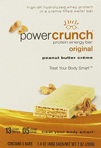 BioNutritional Research Group - Power Crunch Protein Energy Bar Peanut Butter Creme - 1.4 Ounce Bars, 5 Count (Power Crunch Energy Bars compare prices)