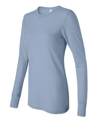 Bella Ladies Long Sleeve Thermal T-Shirt. 8500 - Xx-Large - Baby Blue front-944562