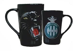 Mug Tasse à café thé Cappuccino ASSE - Collection officielle AS SAINT ETIENNE - Football Ligue 1 - Vaisselle ceramique