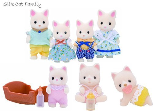 Sylvanian Families Silk Cat Family, Baby and Twins Set by Sylvanian Families