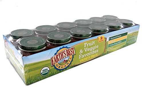 Earth's Best Organic Fruit and Veggie Favorites Variety Pack, 3 Pound