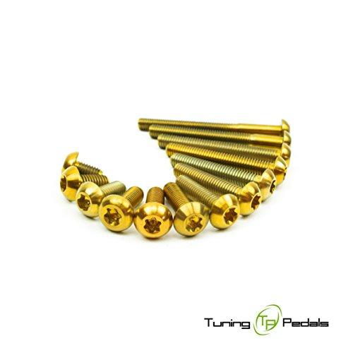 M5 Titan Schraube nach ISO 7380, Linsenkopf in gold