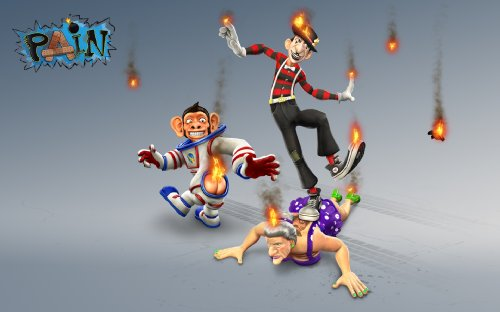 PAIN Character Bundle - Space Monkey, Mime, Granny [Online Game Code]