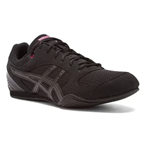 ASICS Women's Rhythmic 2 Cross-Training Shoe,Black/Onyx/Hot Pink,8.5 M US