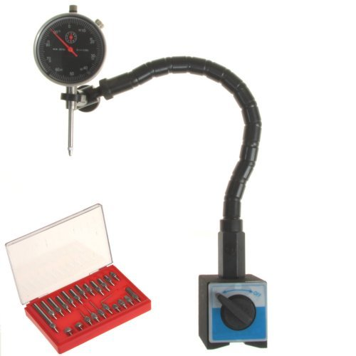 Anytime Tools DIAL INDICATOR + FLEXIBLE ARM MAGNETIC BASE + POINT SET (Dial Indicator Flexible compare prices)