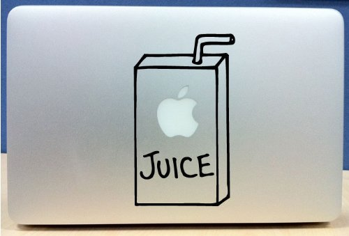 Fantastic Deal! Apple Juice Box - Vinyl Macbook / Laptop Decal Sticker Graphic