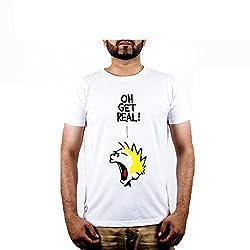 Punchtattva Men's Cotton T-shirt ( PCH2-M_White)