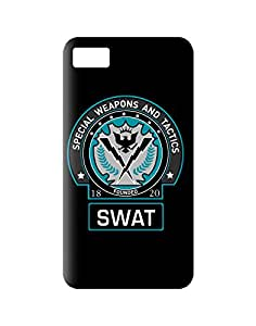 Warner Bros PBWABABB762 Dark Knight-Batman Gotham SWAT Back Cover for Blackberry Z10 Officially Licensed (Multicolor)