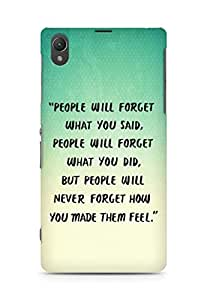 AMEZ people will forget what you said did Back Cover For Sony Xperia Z1 C6902