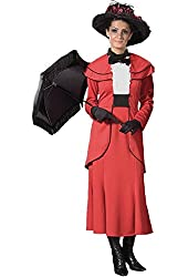 Deluxe Red English Nanny Costume