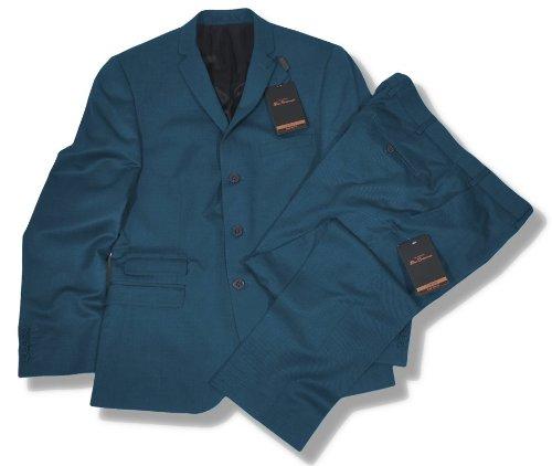 Ben Sherman Slim Fit 3 Button Mod Suit Tonic Blue 44 chest / 38 waist