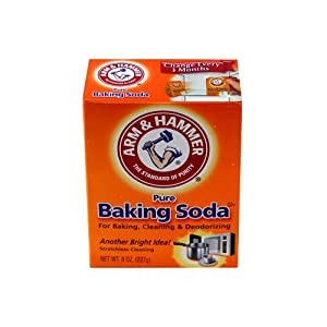 Arm + Hammer Pure Baking Soda 8oz - It cleans, deodorizes and even bakes effectively and inexpensively.