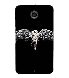 PrintVisa Angel Wings Design 3D Hard Polycarbonate Designer Back Case Cover for Motorola Motorola Google Nexus 6