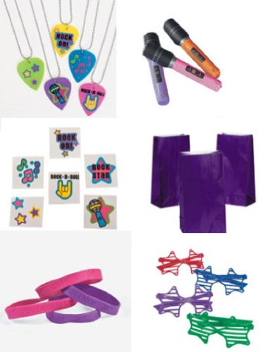 Rock Star Diva Party Favor Pack (96 Pieces) Party Of 12/ Party Supplies/Birthday'S/Theme Party