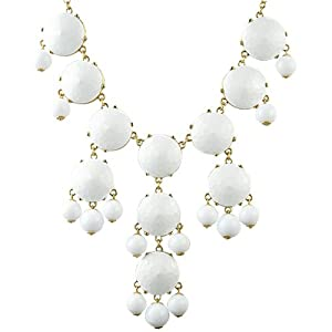 Bubble Necklace White Necklace Statement Necklace (Fn0508-Pure White)