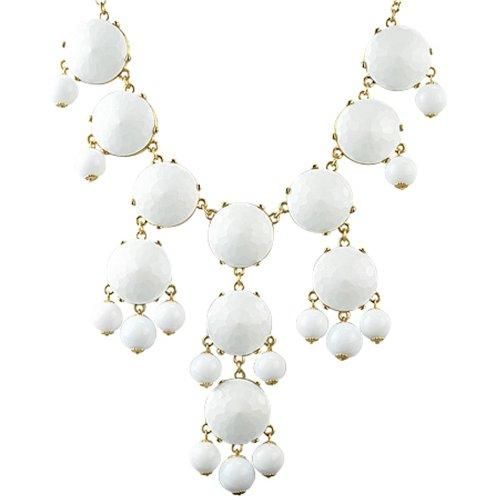 Bubble Necklace White Necklace Statement Necklace