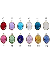 2 X June Birthstone Charms 13x18mm Austrian Crystal Beads For Charm Bracelets Necklaces Jewelry Making CCP6-6