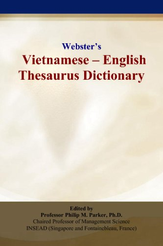 Websters Vietnamese - English Thesaurus Dictionary