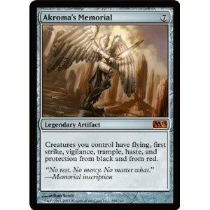 Mythic Rare Magic Artifact : the Gathering - Akroma's Memorial (200) - M13 -