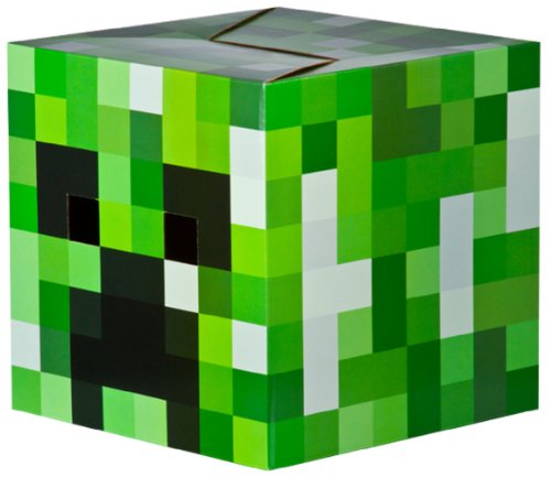 Minecraft Creeper Head Cardboard Mask Mine Craft Costume Gamer Cosplay
