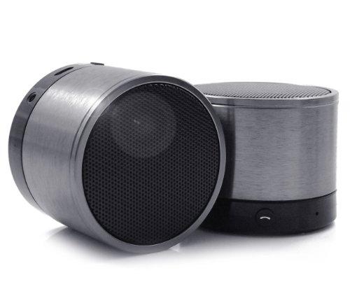 iTALKonline SoundWave SILBER SW100 Drahtlose wiederaufladbare Bluetooth-Freisprecheinrichtung Lautsprecher für Samsung C3312R Rex 60