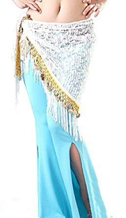 Belly Dance Hip Scarf , Lace Fringe Waist chain , Halloween Party costumes