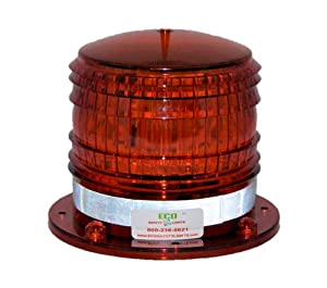 S8LFM 2NM IP67 SOLAR LED Magnetic Marine Dock Barge Safety Beacon Light 360 Degree... by ECO Safety Lights LLC