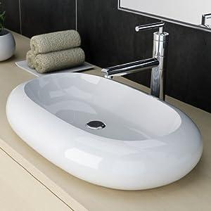 NEG Design Waschbecken Uno25A, Waschschale/Waschtisch mit ovalem Rand und NanoBeschichtung  BaumarktKundenbewertungen