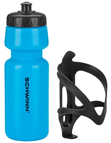 Schwinn Water Bottle and Cage, Blue