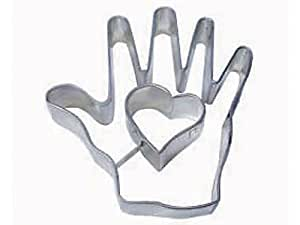 1 X HEART IN HAND cookie cutter 4 in. B1022