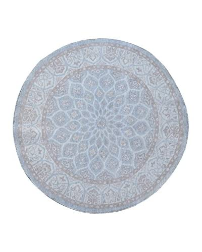 Kalaty One-of-a-Kind Pak Round Rug, Grey, 6' x 6' 1