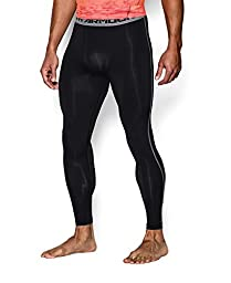 Under Armour Men\'s HeatGear Armour Compression Leggings, Black (001), Small