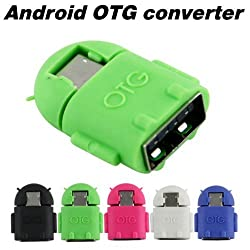 Aeoss Micro Usb to USB OTG adapter Cute Little OTG Adapter Micro USB OTG to USB 2.0 Adapter for Smartphones & Tablets (Mix Colors)