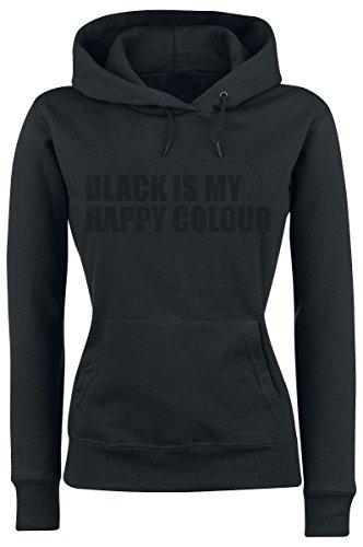Black Is My Happy Colour Felpa donna nero XL
