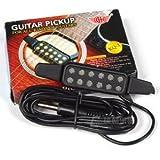 簡単 アコースティックギター を エレアコ に!ギター  ピックアップ 穴開け加工不要(変換ジャック付)