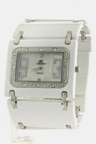 Chic Chelsea Wide Band Fashion Watch (White)