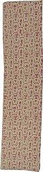 Knool Women's Unstitched Kurti Fabric (Cream and Pink)