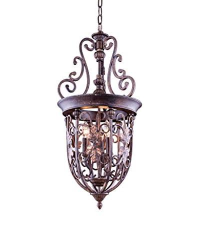 Urban Lights Troy 3-Light Pendant Lamp, Gilded Umber