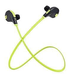 Rymemo 2016 Hottest Lightweight Wireless Bluetooth 4.1 Headphones Portable Earbuds Sports/Running Headset Stereo Earphones Neckband Earpiece Earplug Ear-cup for Cellphone, Green