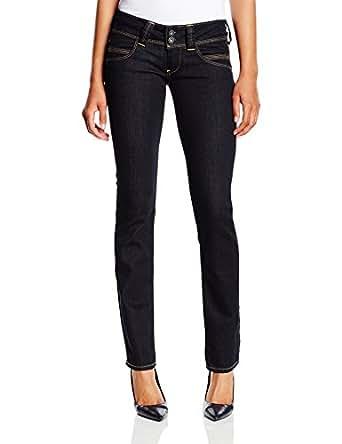 pepe jeans women 39 s venus straight jeans black denim 000. Black Bedroom Furniture Sets. Home Design Ideas