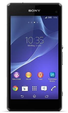 Sony Xperia Z1 Compact Smartphone (10,9 cm (4,3 Zoll) HD-TRILUMINOS-Display, 2,2GHz, 2GB RAM, 20,7 Megapixel Kamera, Android 4.3) schwarz