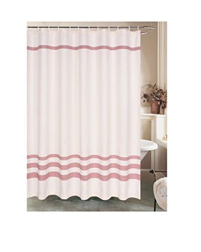 Beatrice Home Fashions Sara Lee Waffles Shower Curtain, Burgundy